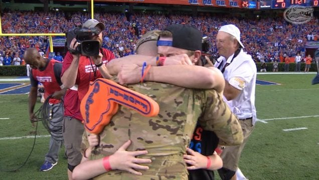 Florida Gators: Military Homecoming Surprise 10-3-15