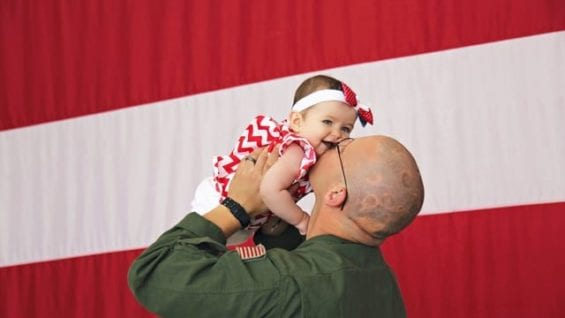 Dad Meets Daughter For First Time | Military Homecoming