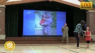 Dad's Surprise Homecoming Shocks Little Girl