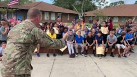 Military homecoming: Dad surprises Spruce Creek student at school