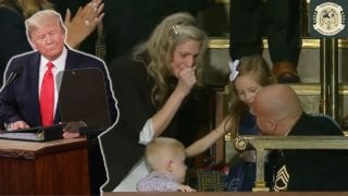 President Trump Surprises Military Family With Surprise Homecoming During State