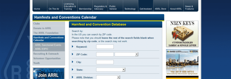 Hamfest and Conventions Calendar