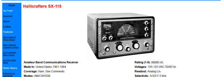 Hallicrafters SX-115 and SX-117