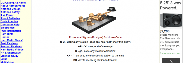 Q Signals, Prosigns and Abbreviations For The Ham Radio Operator