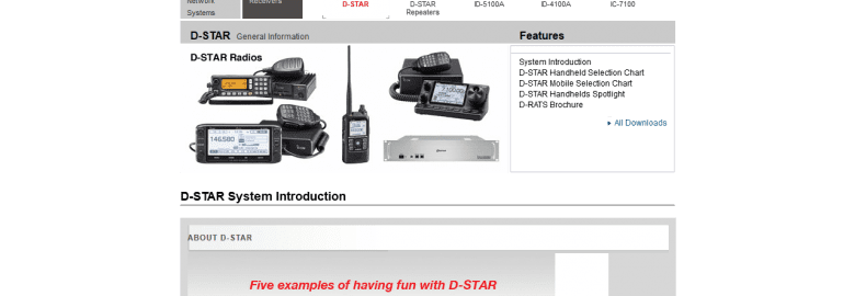 D-STAR General Information – Features – Icom America