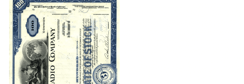 Collins Stock Certificate